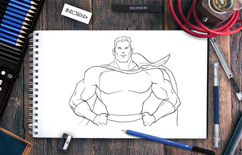 How to draw Shazam step by step tutorial